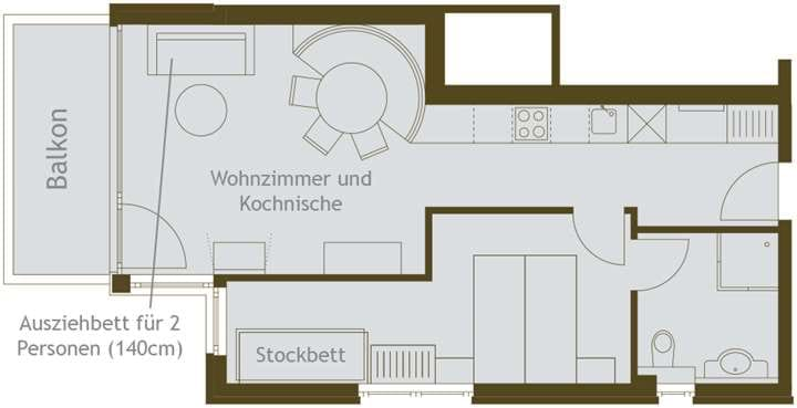 4-6 Personen Apartment im Grafenberg Resort Wagrain