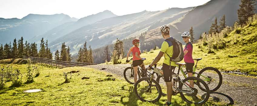 Mountain biking in Saalbach